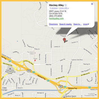 Hockey Alley Map